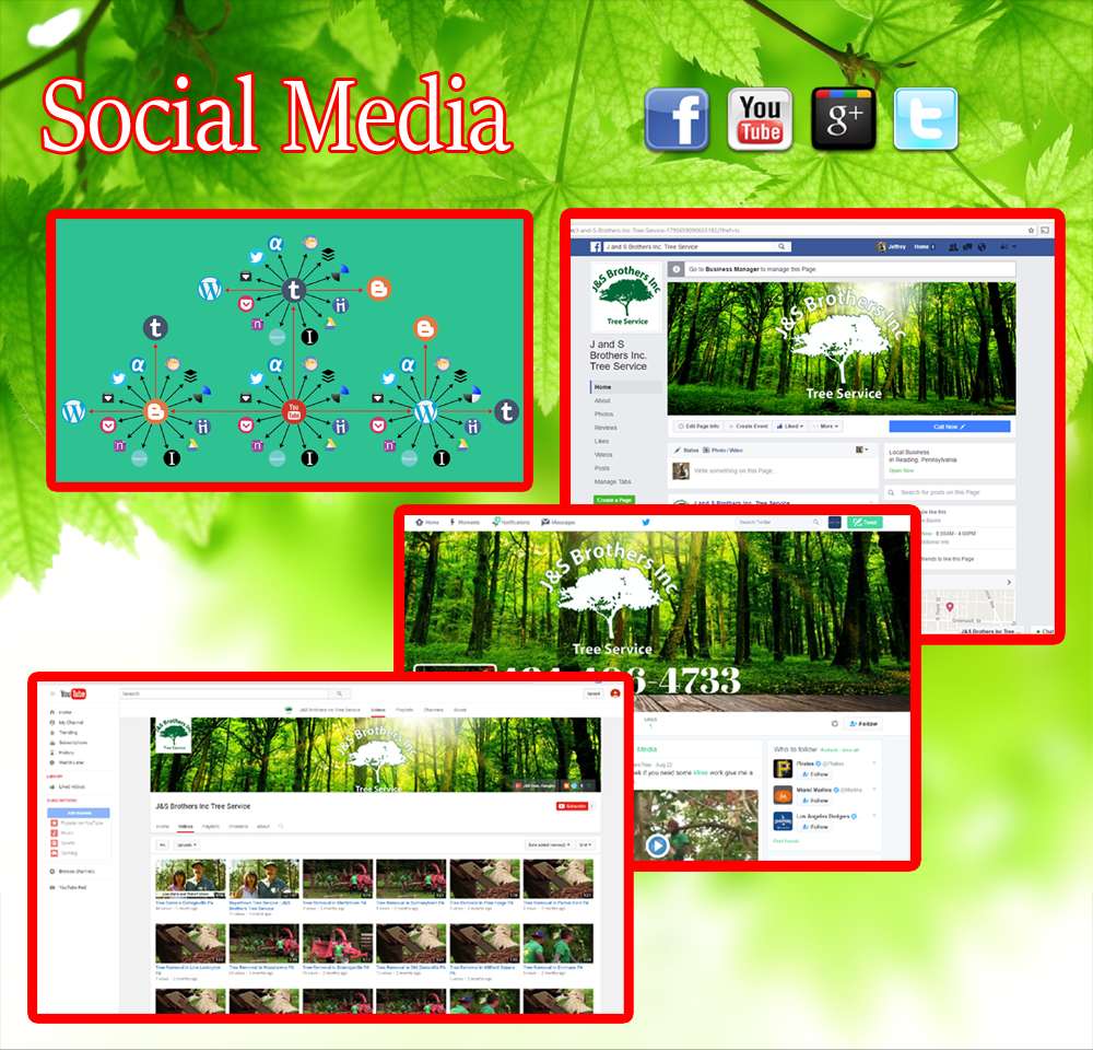 social media for tree services